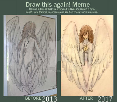 Draw this again: Angel (gift for my mother) by Aaronchu29