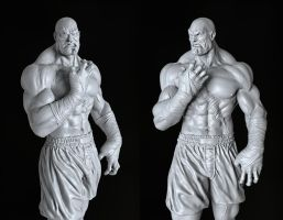 Sagat Model Shot by aaronfang-art