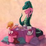 Draconic Tea Party by zuluyo
