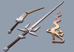 Ravenloft Swords by orcbruto