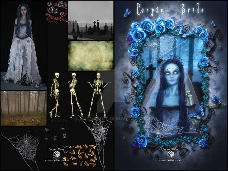 corpse Bride - before and after by EvyLeeArt