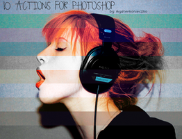 10 Actions for photoshop by mysterkonieczko
