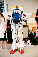 Gundam F91 costume at Uppcon by sedra60