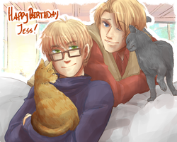 APH Cat Time by Owyn-Sama