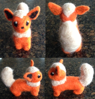 Needle Felt Flareon by amandajo567
