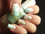 Pretty Spring Bird and Floral Pattern. by Ithfifi