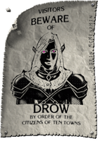Beware of Drow Poster by Irishmile