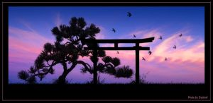 Japanese Sunset by zedstef