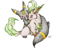 leafeon and umbreon request by Suenta-DeathGod