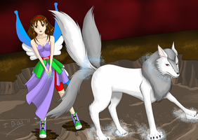 One Year Event Kat and Fenrir by StarlightMemories