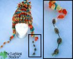 Multicolor pom winter knit hat by Louness26
