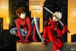 Spideypool Hijack AU by Laven96