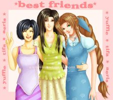 -FF7- Best Friends by GawainesAngel