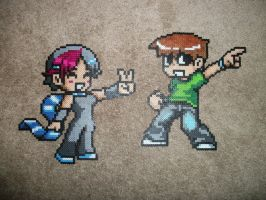 Scott Pilgrim bead sprites by DartFeld