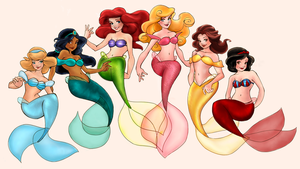 Loish's Mermaids -complete- by KatTheGrrreat