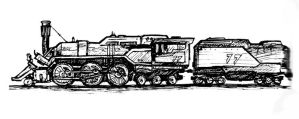 2-6-6 Fantasy Steam Loco by clearwater-art