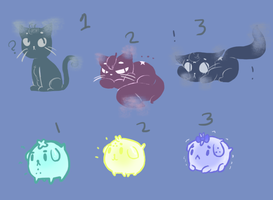 magic pets group 2! for adoption! by Ask-Olive-And-Oliver