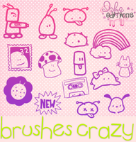 Pack de Brushes Crazy by Isfe