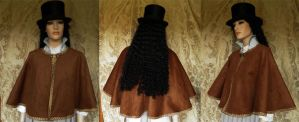 Steampunk inspired capelet PCS1-3 by JanuaryGuest