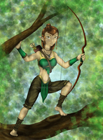 Elven Archer - Complete by Yuriona