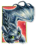 Toothless ACEO by soulwithin465