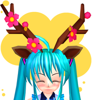 MMD - Sawsbuck Ears + Antlers + DL by lexxxyy