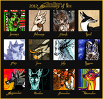 2012 Summary of Art by CanisAlbus