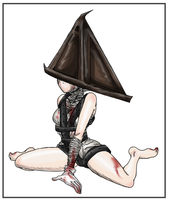 SilentHill: Triangle Thing Gal by PritzPritz