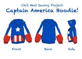 Captain America Hoodie Sketch by LauraDoodles