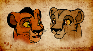 Taka and Zira by EmilyJayOwens