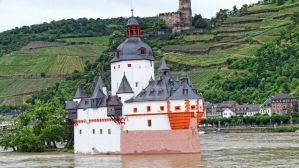 Ship castle on the Rhine River in Germany 1 by piaglud