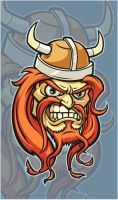 Angry Viking t-shirt design by Cloxboy