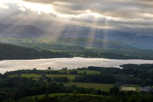 Light Rays Across Windermere by CumbriaCam
