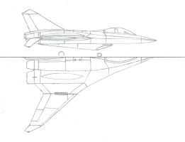 F-55A Parasite Fighter drawing by Venom800TT