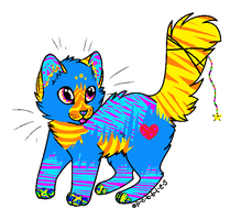 Neon RainBow Adopt by Almost-Nameless