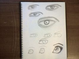 Drawing eyes by TheBlackNotebook