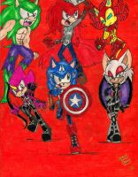 :THE AVENGERS: Sonic Crossover: Part 1 by Sonicemma