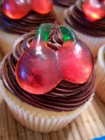 Chocolate Cherry Cupcakes by dashedandshattered