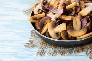Sauteed button mushrooms by BeKaphoto