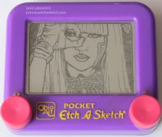 Poker Face Etch a Sketch by pikajane