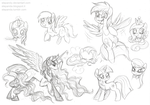 My Little Pony Free Sketches by StePandy