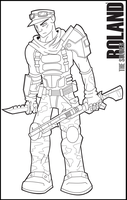 Borderlands - Roland Outline by Edge14