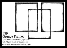589 Grunge Frames by Tigers-stock