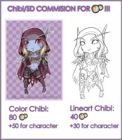 Commision points: Chibis by Daeshagoddess
