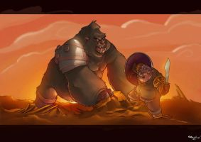 Pig vs Gorilla by judson8