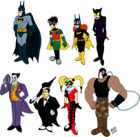Batman Redesigns by TuxedoMoroboshi