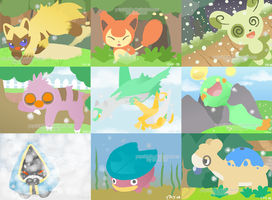 Shiny Hoenn Pokemon Collage by drill-tail