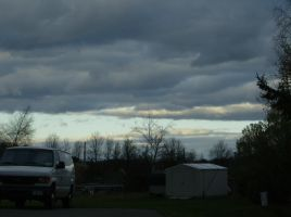 Sky and clouds during the fall by blackthornsos