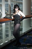 Madeline as 'Rockabilly Catwoman' at C2E2 by N1k0nSh00ter