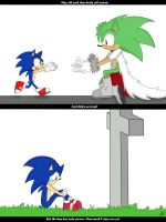 Sonic and Leon by Mellissafox9